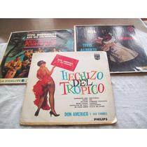 Lote De 3 Discos De Vinilo Retro De Música Tropical