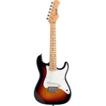 Guitarra Electrica Stagg Tipo Stratocaster Para Chicos Sunbu