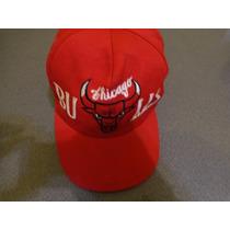 Gorra Chicago Bulls Usada Rojo Unicamente.
