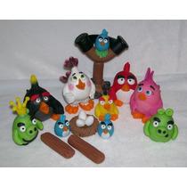 Angry Birds Nuevos!! Adorno Torta Porcelana Fria