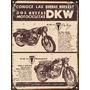 Cartel Chapa Publicidad Antigua 1961 Moto Dkw Y207
