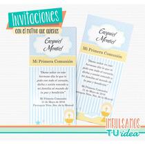 Comunión Varón - Estampita Comunión Varón Para Imprimir