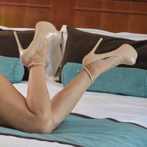 Zapato Mujer Nude Charol Zapato Fiesta Egresadas