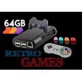 Arcade Consola Retro 64gb Recalbox C/ 2 Joystick Rasp Pi3b+