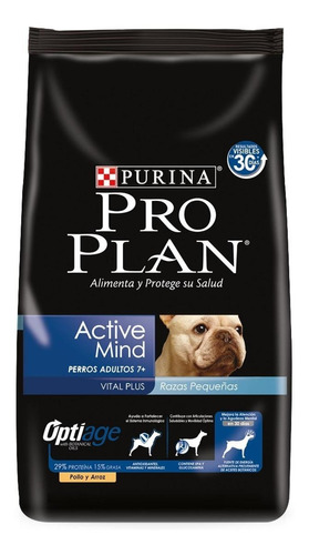 Alimento Pro Plan Active Mind Perro Senior Raza Pequeña Pollo/arroz 7.5kg