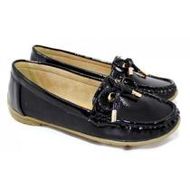 Zapato Mocasin Mujer Clasico Color Negro Charolado Gummi 349