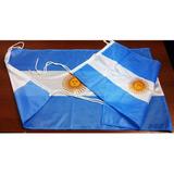 Bandera Argentina 2.50 X 1.45 M Con Refuerzo Y Sogas