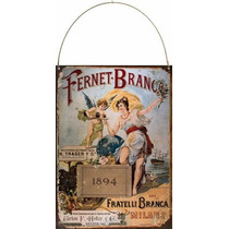 Cartel De Chapa Publicidad Antigua Fernet Branca 1894 L538