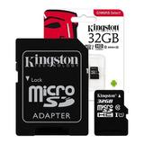Memoria Micro Sd 32gb Kingston Clase 10 Microsd 80mb/s Gtia