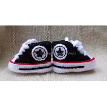 Zaptilla Converse Para Bebe Tejida Crochet Lanegracreaciones