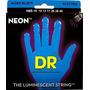 Dr Neon Encordado Luminoso Guitarra Electrica Luz Negra 0.10