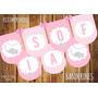 Kit Imprimible Decoración: Baby Shower Elefantito Rosa
