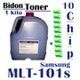 Toner Samsung Mlt-101s Ml 2165w / Bidon 1 Kilo + 10 Chip