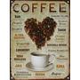 Cartel De Chapa Vintage Retro Cafe Coffee M328