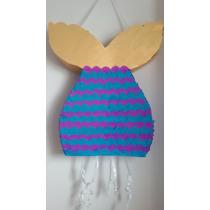 Piñata Artesanal La Sirenita Colores A Eleccion