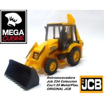 Maquina Vial Retroexcavadora Jcb Coleccion Esc1:35 Metal