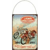 Cartel Chapa Publicidad Antigua Jawa 250 350 P251
