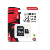 Memoria Micro Sd 64gb Kingston Clase 10 Full Hd 80mb/s