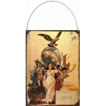 Cartel De Chapa Publicidad Antigua Fernet Branca 1895 L537