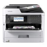 Impresora A Color Multifunción Epson Workforce Pro Wf-c5790 Con Wifi 100v/240v Blanca Y Negra