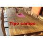 Mesa De Quincho 3,00 X 1,20 M + 14 Sillas
