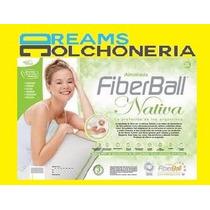 Almohada Fiberball Nativa 70 Con Faja 100% Fibra Siliconada