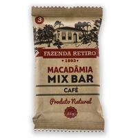 Barra de Macadamia Mix Bar com Cafe 22g - Fazenda Retiro