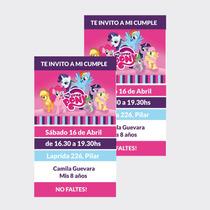Invitaciones My Little Pony X10u