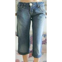 Scombro Bermuda Talle Sx Jeans Elastizado (ana.mar)