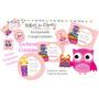 Kit Imprimible Lechuzas Buhos Coloridos Candy Deco Cumples