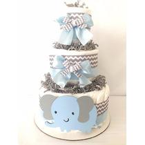 Torta De Pañales Baby Shower-bebes Recién Nacidos-ajuar