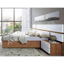 Juego De Dormitorio Moderno Cama Y Respaldo Axiomamuebles.