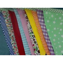 Banderin Tela Doble Multicolor Cosidos Estampados