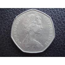 Gran Bretaña - Moneda De 50 New Pence, Año 1969 - Excelente