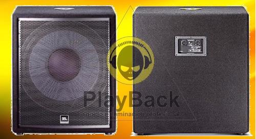 Bafle Jbl Original Jrx218s ,para Dj Y Sonido Oferta Playback
