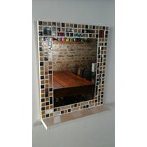 Promo! Espejo Con Venecitas. 40x50 Con Estante. Ideal Baños