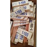 Talonario Numérico Para Rifas, Guardarropa (1-100) * 20 Unid