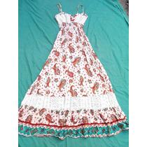 Vestido Solero Largo Combinado Nuevo Talle M