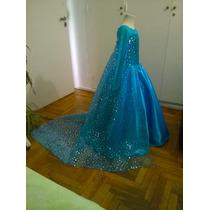Disfraz Vestido De Elsa Frozen, ***princesas Reales***