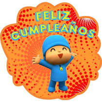 Kit Imprimible Y Edit Pocoyo Candy Bar Cumple Invitac Etique