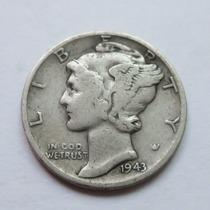 Moneda Usa One Mercury Dime 1943 Plata