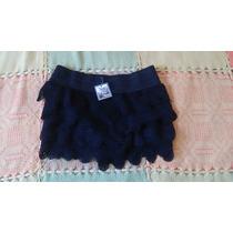 Short Hilo Tejido Encaje Crochet