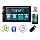Stereo Con Pantalla Doble Din Tactil 60x4 Bluetooth Gps Usb