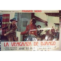 Poster Original La Venganza De Django Franco Nero 1966
