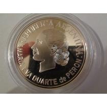 Moneda Argentina 1 Peso 2002 Plata Evita