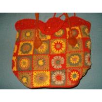 Original Cartera Tejida Al Crochet