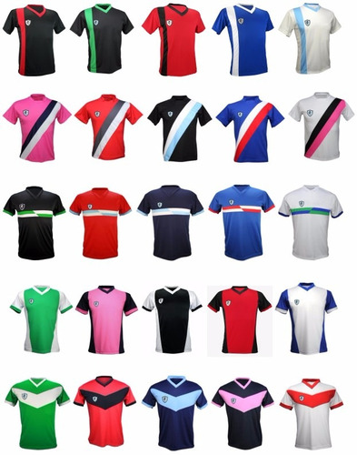Pack 11 Camisetas Futbol Numeradas Y Short Yakka. Precio    7070 Ver en  MercadoLibre 20761662b76c1