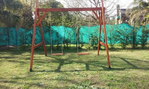 portico de madera 2 hamacas edn juegos de madera - Hamacas De Madera