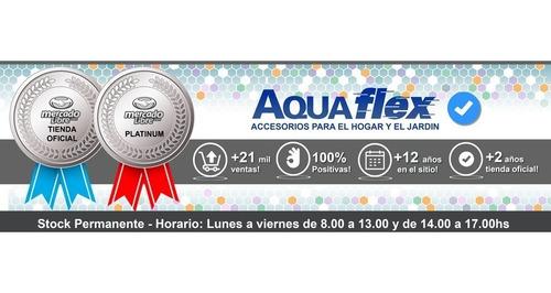 Flor De Ducha Cromada Metalica Cuadrada 25 Cm  Aquaflex
