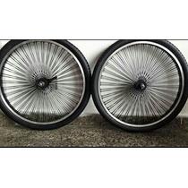 Llantas Multirayos Bicicleta 144 Negras Doble Pared